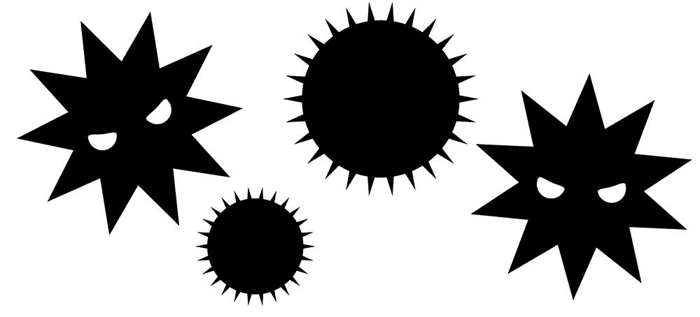 ウイルス、花粉のイメージ